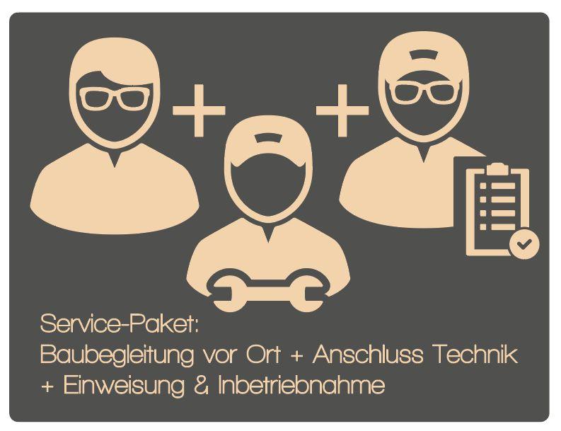 Paket 7: Baubegleitung vor Ort + Anschluss Technik + Einweisung & Inbetriebnahme